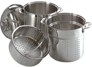 All-Clad E796S364 Specialty Stainless Steel Dishwasher Safe 12-Quart Multi Cooker Cookware Set