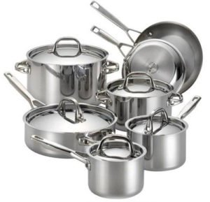 Anolon Tri-Ply Clad Stainless Steel Cookware Set