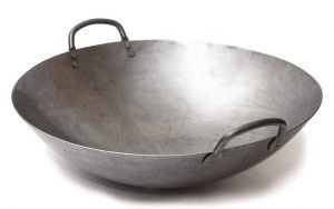 Big 16 Inch Heavy Canton Style Hand Hammered Carbon Steel Wok