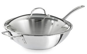 Calphalon Triply Stainless Steel Wok Pan