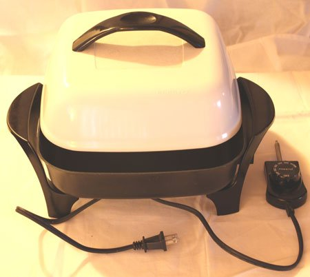 clean presto electric frying pan
