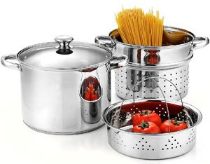 Cook N Home Stainless Steel Pasta Cooker