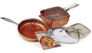 "Copper Chef 11"" XL Cookware set - Best Copper Cookware"