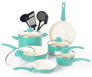 GreenLife CW000531-002 Soft Grip Cookware Set