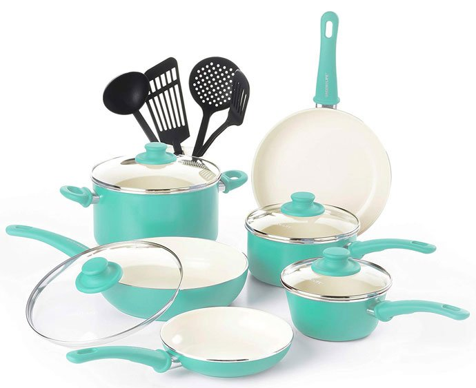 GreenLife Ceramic Cookware Review   CW000531-002 Soft Grip Nonstick Cookware