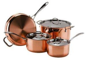 Josef Straus - Le Cuivre Le Cuivre Copper 3-Ply 7-Piece Cookware Set