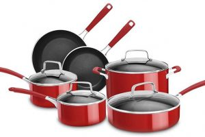 KitchenAid KCAS10ER Aluminum Nonstick 10-Piece Set Cookware