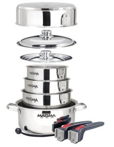 Magma Products, 10 Piece Gourmet Nesting Stainless Steel Cookware Set