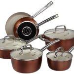 Cooksmark Ceramic Cookware Set - Copper Pots and Pans