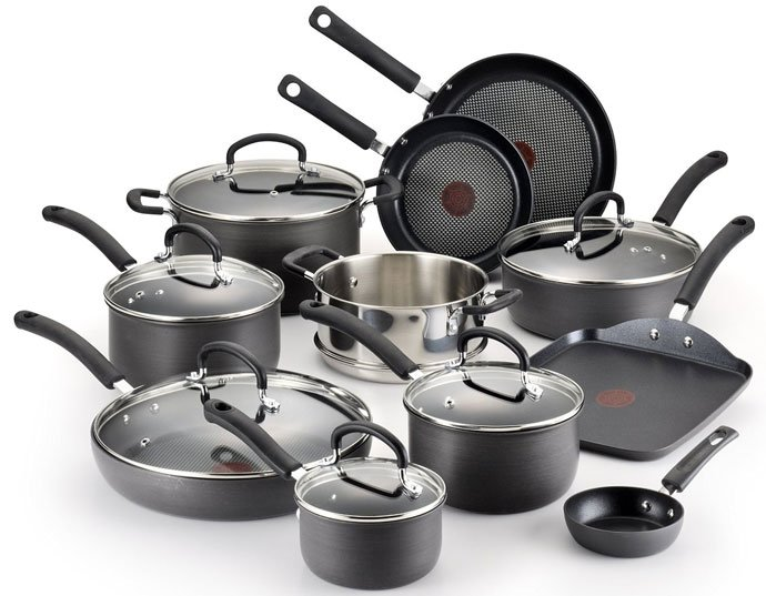 T-fal E765SH - ultimate hard anodized cookware set