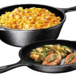 Ultimate Pre-Seasoned 2-In-1 Cast Iron Combo Cooker by Bruntmor - Best Cast Iron Skillets